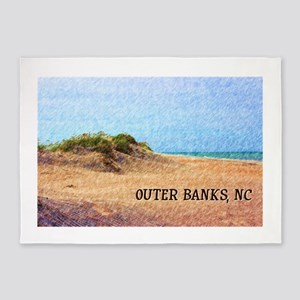 Outer Banks NC Beach Dune 5'x7'Area Rug